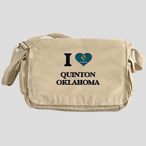 I love Quinton Oklahoma Messenger Bag