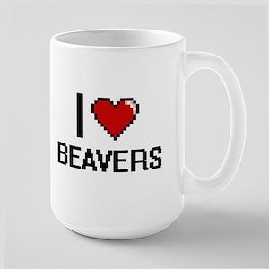 I love Beavers Digital Design Mugs