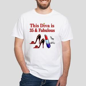 35TH PRIMA DONNA White T-Shirt