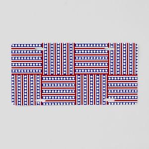 Patriotic Weave Aluminum License Plate