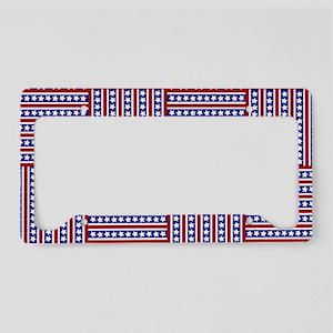 Patriotic Weave License Plate Holder