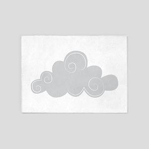 Grey cloud 5'x7'Area Rug