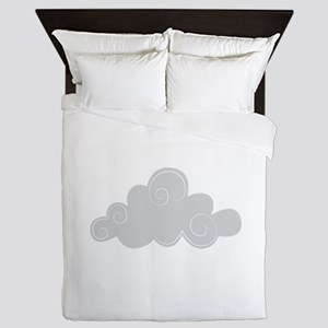 Grey cloud Queen Duvet
