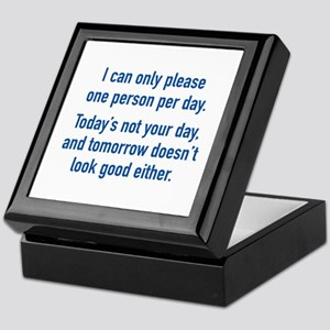 Today's Not Your Day Keepsake Box