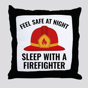 Sleep With A Firefighter Throw Pillow
