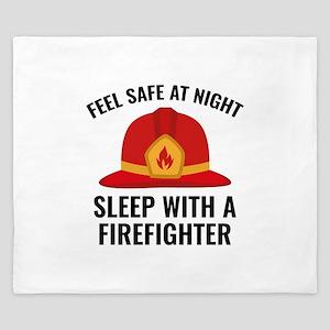Sleep With A Firefighter King Duvet