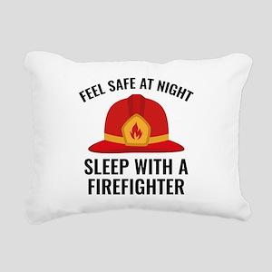 Sleep With A Firefighter Rectangular Canvas Pillow