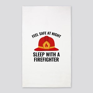 Sleep With A Firefighter 3'x5' Area Rug