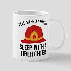 Sleep With A Firefighter Mug