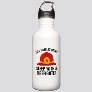 Sleep With A Firefighter Stainless Water Bottle 1.