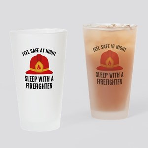 Sleep With A Firefighter Drinking Glass