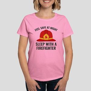 Sleep With A Firefighter Women's Dark T-Shirt