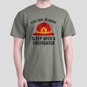 Sleep With A Firefighter Dark T-Shirt