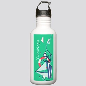 Nautical Anchor and Bo Stainless Water Bottle 1.0L