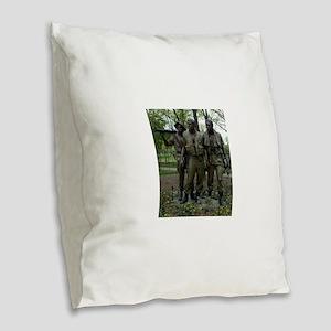 Washington DC war memorial Burlap Throw Pillow