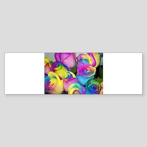 Tye Dye Roses Bumper Sticker