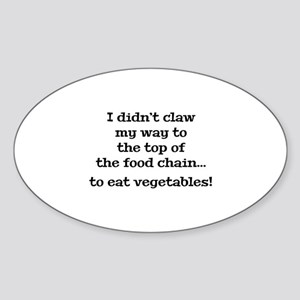 Top Of The Food Chain Sticker (Oval)