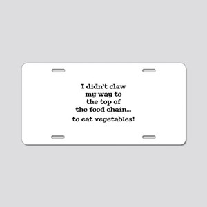 Top Of The Food Chain Aluminum License Plate