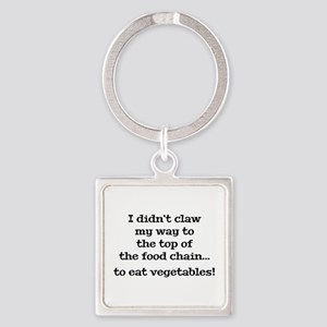Top Of The Food Chain Square Keychain