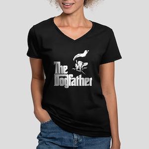 Finnish Lapphund Women's V-Neck Dark T-Shirt
