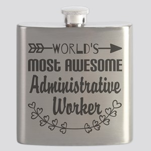 World's Most Awesome Administrative Worker Flask