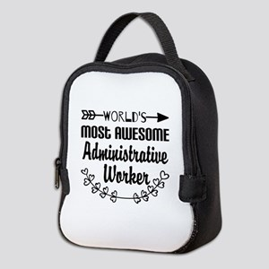 World's Most Awesome Administra Neoprene Lunch Bag