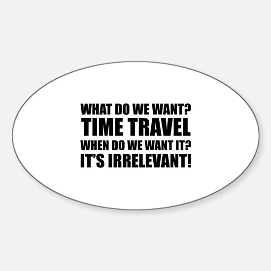 Time Travel Sticker (Oval)