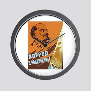 Lenin 4 Wall Clock