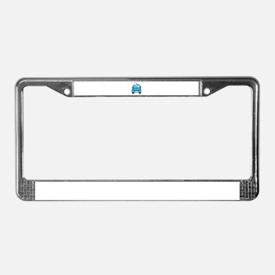 Carwash blue with bubbles License Plate Frame
