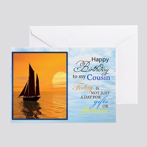 A Birthday Card For Cousin Yacht Sailing Gre