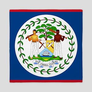 Flag Of Belize Queen Duvet