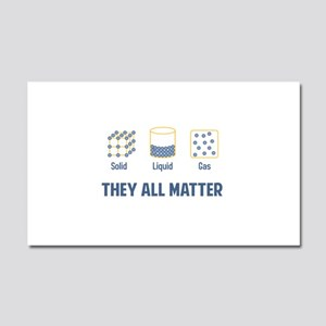 Liquid Solid Gas - They All Matter Car Magnet 20 x