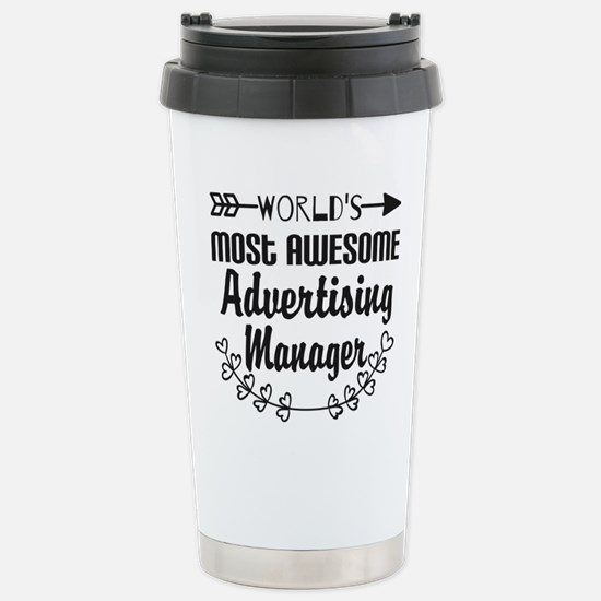 World's Most Awesome Ad Stainless Steel Travel Mug