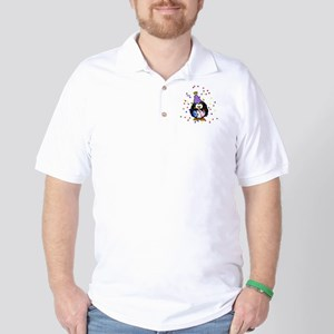 Party Penguin Confetti Golf Shirt