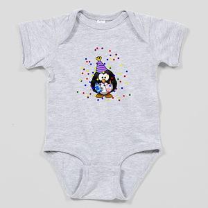 Party Penguin Confetti Baby Bodysuit
