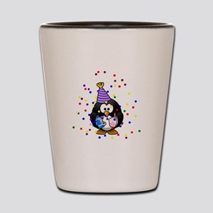 Party Penguin Confetti Shot Glass