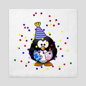 Party Penguin Confetti Queen Duvet