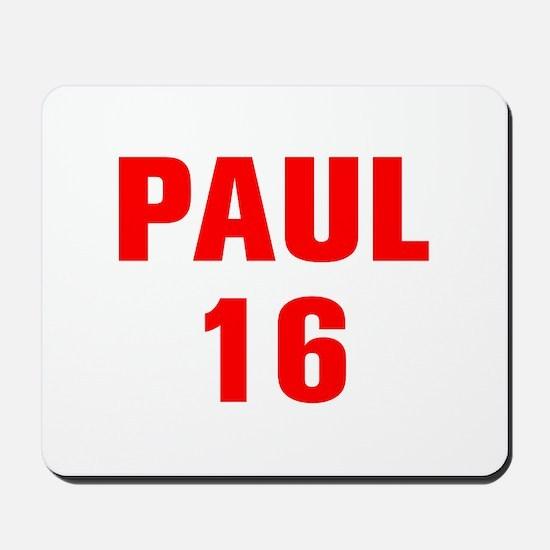 Paul 16-Akz red 4 Mousepad