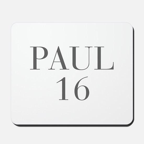 Paul 16-Bau gray 4 Mousepad