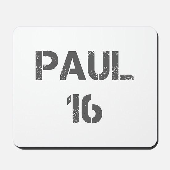 Paul 16-Cap gray 4 Mousepad