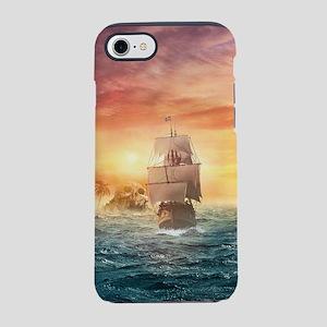 Pirate ship iPhone 7 Tough Case