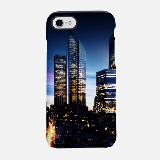 City Skyline at Night iPhone 7 Tough Case