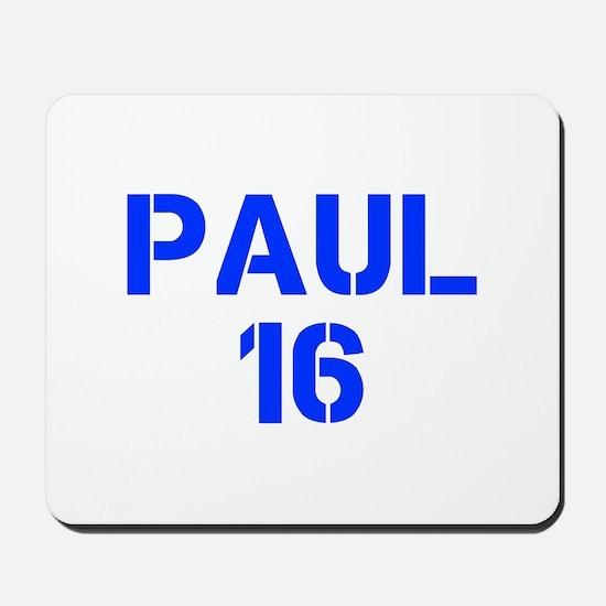Paul 16-Cle blue 4 Mousepad