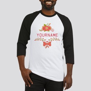 Personalized Name Cute Floral Baseball Jersey