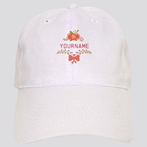 Personalized Name Cute Floral Cap