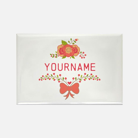 Personalized Name Cute Rectangle Magnet (10 pack)