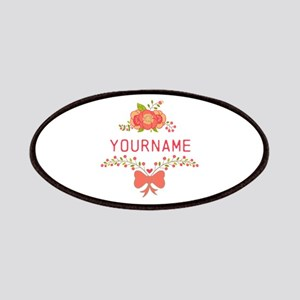 Personalized Name Cute Floral Patch