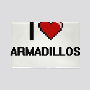 I love Armadillos Digital Design Magnets