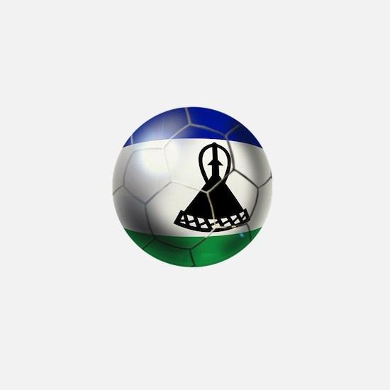 Lesotho Soccer Ball Mini Button