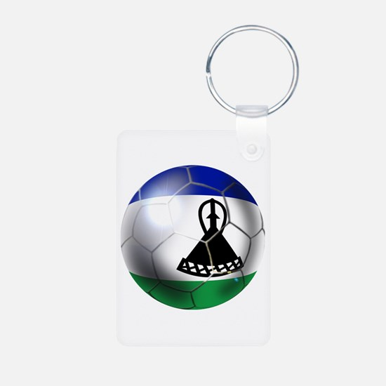 Lesotho Soccer Ball Keychains